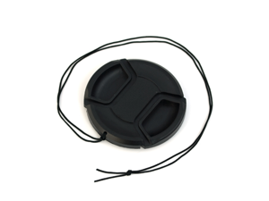 BIRUGEAR 62mm Black Camera Plastic Snap On Lens Cap with Strap for Sony NEX-7 NEX-5N NEX-F3 (which use with E 18-200mm F3.5-6.3 ...
