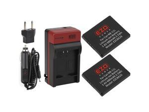 EZOPower 2 x NB-11L/NB-11LH Battery + Travel Charger Kit for Canon SX400 IS, ELPH 340 HS, ELPH 320 HS, ELPH 150 IS, ELPH 140 IS, ELPH 135, ELPH 130 HS, ELPH 115 HS, ELPH 110 HS, A2600, A2500, A2300
