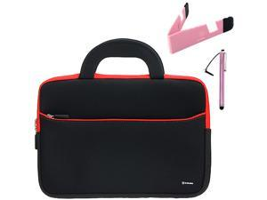 BIRUGEAR10.6~12 inch Tablet, Netbooks Ultraportable Neoprene Zipper Carrying Case + Foldable Stand & Stylus for HP ENVY X2, EliteBook&#59; Asus Vivo Tab RT TAICHI 10.6 inch inches Tablet