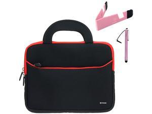 BIRUGEAR 8.9~10.2 inch Tablet Ultraportable Neoprene Carrying Case + Foldable Stand & Stylus for Lenovo IdeaTab S6000, ThinkPad Tablet 2, IdeaTab A2109, ThinkPad, K1 Ideapad and More
