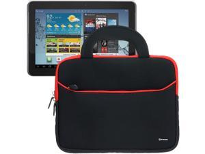 BIRUGEAR Ultraportable Dual Pocket Handle Carrying Neoprene Case with Screen Protector for Samsung Galaxy Tab 2 10.1-Inch P5100 / P5110 / GT-P5113 Android Tablet PC