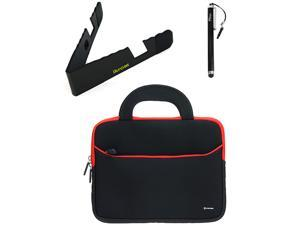 BIRUGEAR 8.9~10.2 inch Tablet Ultraportable Neoprene Carrying Case + Foldable Stand & Stylus for Google Nexus 10&#59; Sony Xperia Tablet Z, S&#59; Acer ICONIA TAB A700, A510, A500, A210, A200, W500 and More