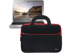 Evecase® Ultraportable Neoprene Pocket Handle Carrying Sleeve Case Bag for Samsung Chromebook (Wi-Fi, 3G, 11.6-Inch) – Black