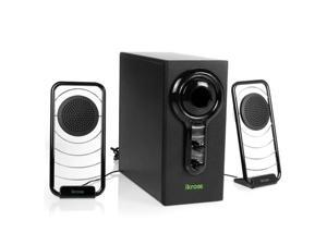 iKross Blue LED Hi-Fidelity 2.1 Satellite Speaker Sound System with Subwoofer for PC , Laptops, Desktops, Mac , MP3 Players , iPod , Tablets , Home-Theater and Mor