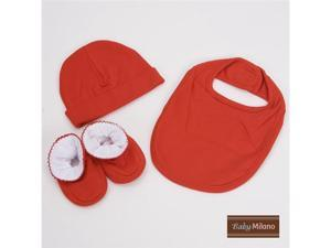 Baby Milano Red 3 piece Baby Gift Set for Boy or Girl