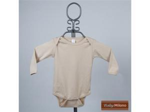 Baby Milano Tan Long Sleeve Colored Bodysuit