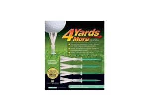 "4 Yards More Golf Tee 4"" Four Pack Green Works Great"
