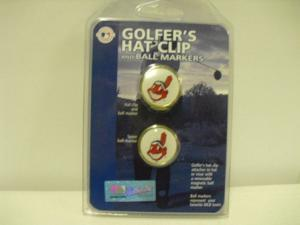 Golf Hat Clip w/ Magnetic Ball Marker NEW MLB Indians