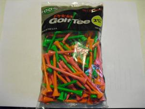 "Pride Golf Tee Birch 2 3/4"" Tees 100 Ct Bag Citrus Mix"