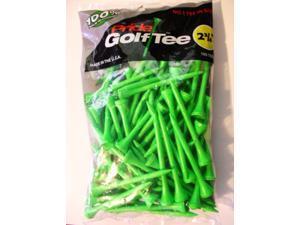 "Pride Golf Tee Birch 2 3/4"" Tees 100 Ct Bag Green NEW"