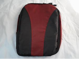 RJ Sports Vented Full Zip Golf Shoe Bag Burgundy/Black