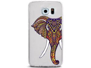 UV Printed TPU Phone Case - African Elephant Paisley Floral
