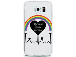 UV Printed TPU Phone Case - My Heart Beats for You Quote