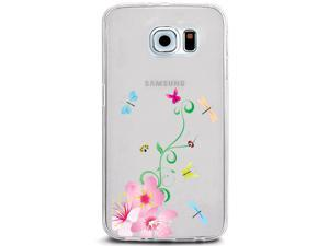 UV Printed TPU Phone Case - Spring Flowers Dragonfly Butterfly