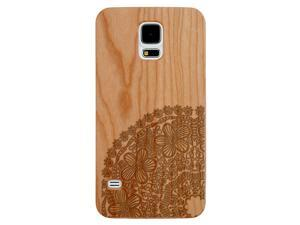 Laser Engraved Wood Phone Case - Paisley Floral Mandala (Maple, Cherry, Black, Cork) for iPhone 4/4s, iPhone 5/5s/SE, iPhone 6/6s, iPhone 6/6s Plus, Galaxy S4, Galaxy S5, Galaxy S6 and Galaxy S6 Edge