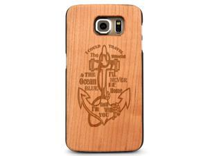 Laser Engraved Wood Case - Anchor Travel Home Quote (Maple, Cherry, Black, Cork) for iPhone 4/4s, iPhone 5/5s/SE, iPhone 6/6s, iPhone 6/6s Plus, Galaxy S4, Galaxy S5, Galaxy S6 and Galaxy S6 Edge
