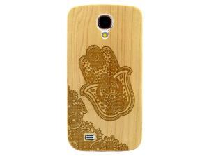 Laser Engraved Wood Case - Floral Hamsa Paisley (Maple, Cherry, Black, Cork) for iPhone 4/4s, iPhone 5/5s/SE, iPhone 6/6s, iPhone 6/6s Plus, Galaxy S4, Galaxy S5, Galaxy S6 and Galaxy S6 Edge
