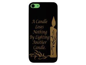 Laser Engraved Wood Phone Case - Candle Light Motivational Quote (Maple, Cherry, Black, Cork) for iPhone 4/4s, iPhone 5/5s/SE, iPhone 6/6s, iPhone 6/6s Plus, Galaxy S4, Galaxy S5, Galaxy S6/S6 Edge