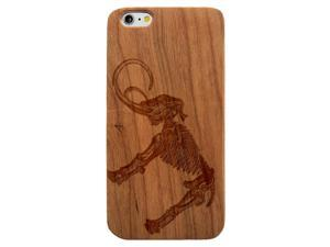 Laser Engraved Wood Phone Case - Wooly Mammoth Skeleton (Maple, Cherry, Black, Cork) for iPhone 4/4s, iPhone 5/5s/SE, iPhone 6/6s, iPhone 6/6s Plus, Galaxy S4, Galaxy S5, Galaxy S6, Galaxy S6 Edge