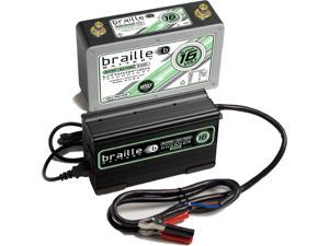 Braille Lithium Super 16 Volt Battery B169LC - Save 25+ LBS! - Circle Track Racing Battery & Lithium Charger 2 amp