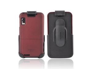Red Black OEM Seidio Innocase Surface Combo Rubberized Hard Case Holster For Motorola Atrix 4G