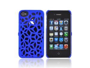 OEM Freshfiber Apple Iphone 4/4s Textured Nylon Plastic Snap On Cover - Blue Macedonia