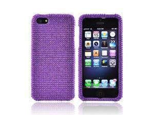 Apple Iphone 5 Shiny Sparkling Gem Plastic Cover - Purple Gems