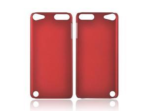 Apple Ipod Touch 5 Rubberized Plastic Cover - Red
