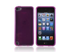 Apple Ipod Touch 5 Crystal Rubbery Soft Silicone Skin Case - Purple