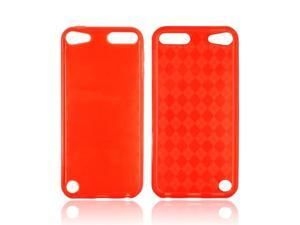Apple Ipod Touch 5 Crystal Rubbery Soft Silicone Skin Case - Red