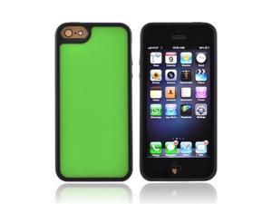 Apple Iphone 5 Hard Back W/ Gummy Silicone Border - Neon Green/ Black