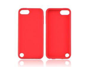 Red Apple Ipod Touch 5 Rubbery Soft Silicone Skin Case