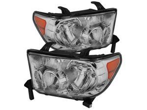Toyota Tundra / Toyota Sequoia OEM Style Headlights ( Will Not Fit Model With Headlight Washer ) Chrome Housing With Clear Lens