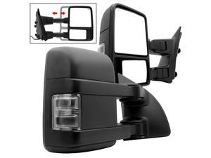 L&R G2 Ford Superduty 99-07 POWER Heated Smoke LED Signal Telescoping Mirrors