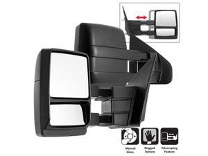 Pair - Ford SuperDuty 04-14 MANUAL Telescoping Mirrors
