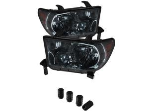 Toyota Tundra / Toyota Sequoia OEM Style Headlights ( Will Not Fit Model With Headlight Washer ) Smoke Lens with Chrome Housingd
