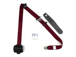 Autoloc SB3PRBG 3 Point Retractable Burgundy Seat Belt (1 Belt)