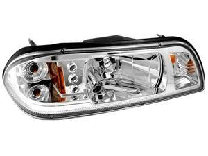 IPCW Projector Headlight CWS-532C2 87-93 Ford Mustang Chrome