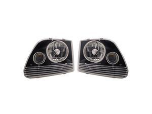APC Black Head Lamps, w/Projector Fog Lamps, Ford F150/F250 LD / Expedition  403620HLB