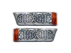 APC Chrome Housing  Clear Diamond Cut Parking Lamps, Chevrolet Silverado                                      403462PLD