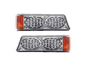 APC Chrome Housing Smoked Diamond Cut Parking Lamps, Chevrolet Silverado                                403462PLS
