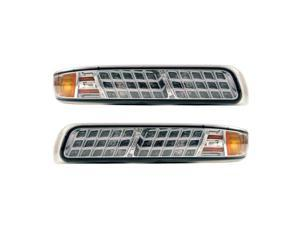 APC Chrome Housing Smoked Diamond Cut Parking Lamps, Chevy Silverado/Suburban/Tahoe 403463PLS
