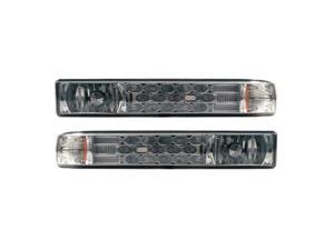 APC Chrome Housing Smoked Diamond Cut Parking Lamps, Chevrolet S-10 / Blazer     403461PLS