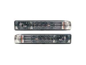APC Chrome Housing Smoked Diamond Cut Parking Lamps, Chevrolet S-10 / Blazer     403461PLS