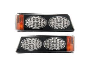 APC Black Housing Smoked Diamond Cut Parking Lamps, Chevrolet Silverado                               403462PBS