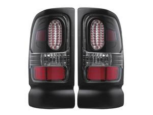 APC Black Diamond Cut Tail Lamps,  Dodge Ram / Ram 2500/3500  407536TLB
