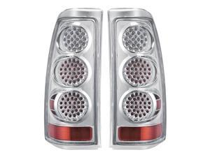 APC Chrome Diamond Cut Tail Lamps, Chevy Silverado / GMC Sierra 407505TLC