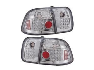 APC Clear Led Tail Lamps, 96-98 Honda Civic 4 Door  406271TL