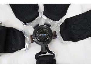 NRG 6 Pt 3inch Seat Belt Harness / Cam Lock- Black SBH-6PCB