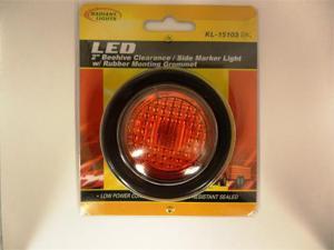 "AutoSmart LED 2"" ROUND CLEARANCE / SIDE MARKER LIGHT KIT W LIGHT AND GROMMET (RED) KL-15103RK"